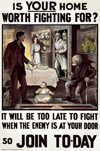 1915 in Ireland - Recruitment poster issued from Dublin, July 1915