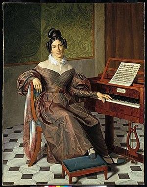 Isabella Colbran - Isabella Colbran; portrait by Johann Baptist Reiter (c.1835)