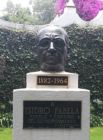 "Isidro Fabela - Bust located inside the ""Casa de Cultura"" in San Angel."