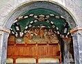 Issogne Castello d'Issogne Innenhof Fresken 02.jpg
