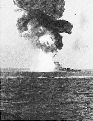Kampfgeschwader 100 - The battleship Roma explodes after being struck by a Fritz-X guided missile