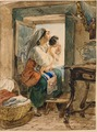 Italian woman with child at window (1831).TIF