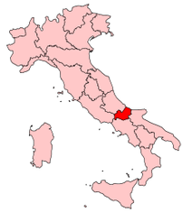 Location of Molise in Italy
