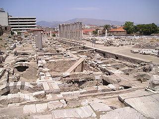 Agora of Smyrna square of ancient İzmir
