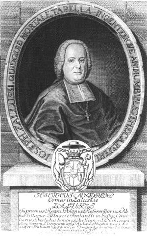 Józef Andrzej Załuski - Bishop Józef Andrzej Załuski, founder of Poland's first public library