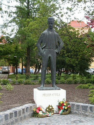 Attila József - Statue of József near the University of Szeged