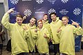 JESC 2018 partisipants. Daniel Yastremski with his team (Belarus) (2).jpg