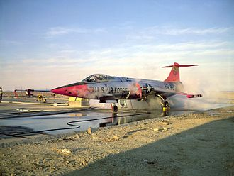 Lockheed NF-104A - JF-104 during RCS testing.