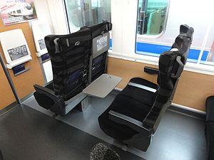 E657 series - Image: JRE E657 seat