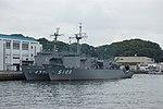 JS Enshū and JS Suma berthed at Y5-wharf, Yokosuka, -4 Aug. 2012 a.jpg