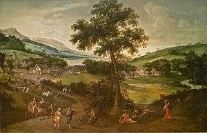Jacob Grimmer - Landscape with figures
