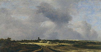 Jacob van Ruisdael - View of Naarden with the Church at Muiderberg in the Distance (1647)