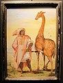 Jacopo ligozzi, capitano degli arabi di barberia e giraffa, tempera su vetro, collez. privata.JPG