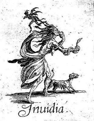 Invidia - Invidia by Jacques Callot (1620) draws on a long iconic tradition