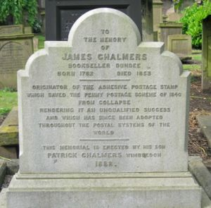 James Chalmers (inventor) - James Chalmers's tombstone