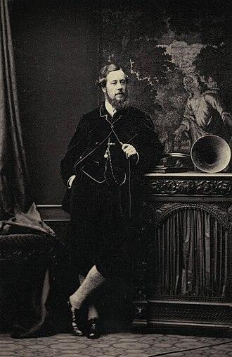 James Innes-Ker, 7th Duke of Roxburghe - James Henry Robert Innes-Ker, 7th Duke of Roxburghe on a photograph of Camille Silvy