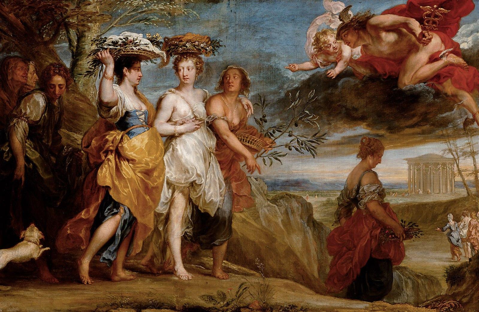Неопознанный летающий объект, без штанов, на картинах барокко