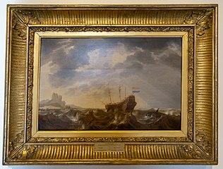 Dutch ship in Table Bay