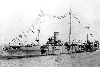 Japanese cruiser Chiyoda - Image: Japanese cruiser Chiyoda 2