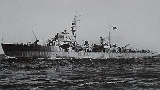 Hiburi-class escort ship - Image: Japanese escort ship Shisaka 1944