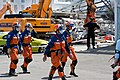 Japanese urban search and rescue team at the CTV building, Christchurch, 24 February 2011.jpg