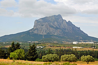Djebel Ressas - Djebel Ressas viewed from the highway into Sousse