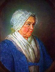 Sara Hinloopen (1689-1775). wife of Arent van der Waeyen