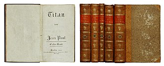 Titan (Jean Paul novel) - German first edition (title page, contemporary bindings))