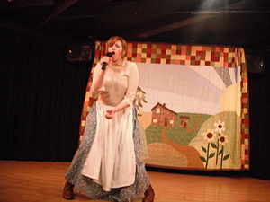 Jennifer R. Blake - Jennifer Blake in the role of Caroline (Ma) in Prairie-Oke at the Cavern Club Theatre, Los Angeles