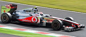 2011 Japanese Grand Prix - Jenson Button set the second fastest time in qualifying, marginally behind pole position holder, Sebastian Vettel.