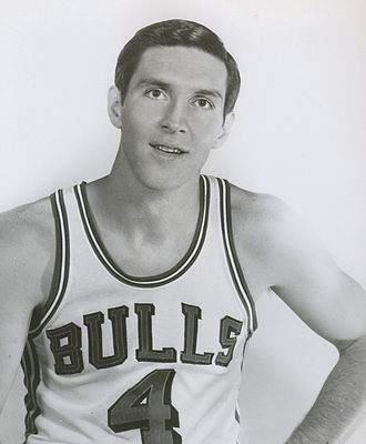 Jerry Sloan - Jerry Sloan in a 1969 Chicago Bulls publicity photo