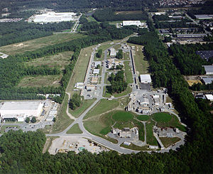 Thomas Jefferson National Accelerator Facility - Aerial view of Jefferson Lab