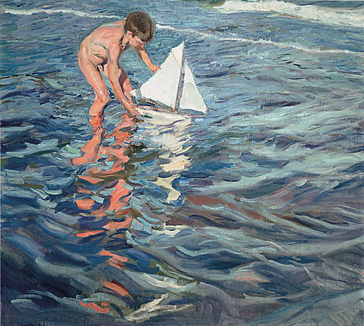 Joaquín Sorolla y Bastida - The Little Sailing Boat - Google Art Project