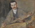 Johan Kindborg, 1861-1907, konstnär, gift med trägravören Emy Edman (Richard Bergh) - Nationalmuseum - 97870.tif