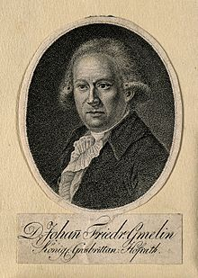 Johann Friedrich Gmelin. Stipple engraving. Wellcome V0002276.jpg
