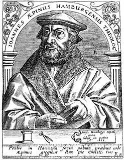 Johannes Aepinus German theologian