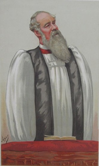 Ritualism in the Church of England - Bishop Ryle of Liverpool – a leading critic of ritualism – by Carlo Pellegrini, 1881