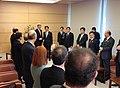 John Kerry Shinzo Abe Fumio Kishida Katsunobu Kato and Hiroshige Seko 20130415.jpg