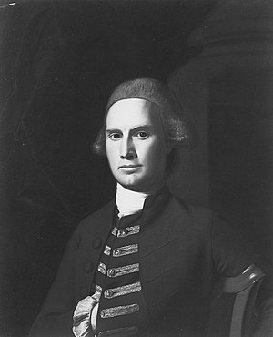 Jabez Bowen - John Singleton Copley, Portrait of Jabez Bowen, undated. Oil on canvas, 30 x 25 in., unlocated