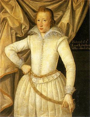 Richard Lovelace, 1st Baron Lovelace - Portrait of Richard Lovelace as a young man, by John de Critz