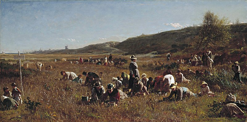 The Cranberry Harvest on the Island of Nantucket, 1880, Jonathan Eastman Johnson.