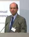 Jordi Galí, presenting, European Central Bank (September 2017).png