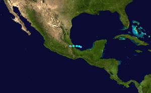 Tropical Storm Jose (2005) - Image: Jose 2005 track