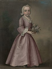 Little Girl Holding Flowers (attributed to Joseph Badger)