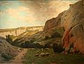 Jourdan-Bergère et son troupeau à Lourmarin.jpg