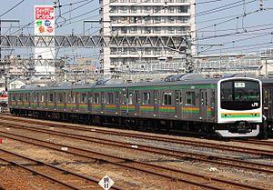 Utsunomiya Line - Image: Jreast 205 600 Utsunomiya Line 20130316