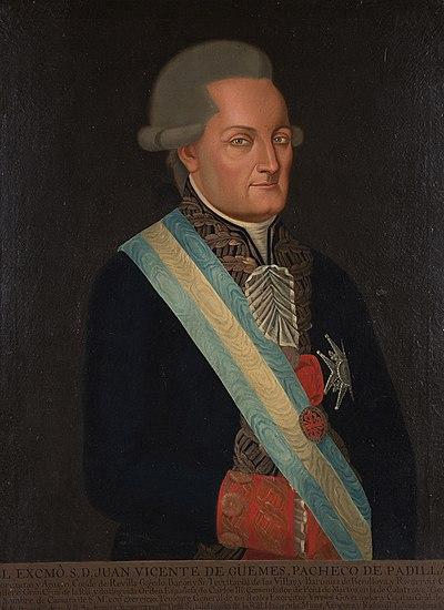 Juan Vicente de Güemes.