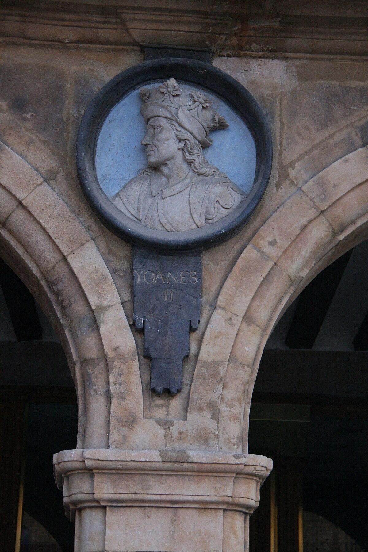 Juan II de Castilla-Plaza Mayor de Salamanca.jpg