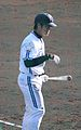 Junya Ohhara, infielder of the Yokohama BayStars, at BayStars Stadium.jpg