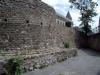 Remains of the Roman city wall in the north of Cologne